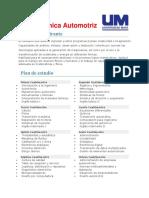 Mecánica Automotriz (universidades)