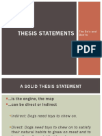 Thesis Statements, The Do's and Dont's