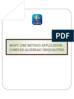 Wavy Line Method Application - Complex Algebraic Inequalities