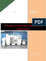 Manual Fresa y torno ,conceptos  y aplicaciones