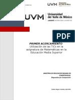 Utilización de Las TICs en La Asignatura de Matemáticas en La Educación Media Superior