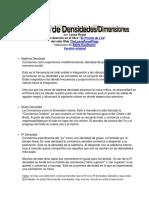 Escala de Densideades - Dimensiones