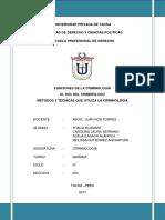 FUNCIONES DE LA CRIMINOLOGIA, ROL DEL CRIMINOLOGO Y METODOS DE LA CRIMINOLOGIA.docx