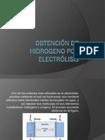 Obtención de Hidrogeno Por Electrólisis