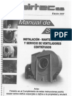 Ventilador Centrifugo Airtec - Manual de Servicio
