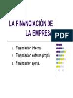 financiacion de la empresa
