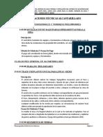 ESPECIFICACIONES TÉCNICAS - ALCANTARILLADO