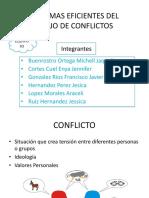 FORMAS EFICIENTES DEL MANEJO DE CONFLICTOS