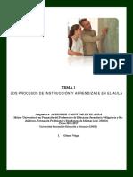 Tema 1 - Procesos Inst y aprendizaje en el Aula