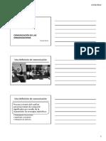 Comunicación en Las Organizaciones - Renglón Uno - 2011