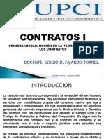 1.- Primera Semana - Unidad i - Nocion de La Teoria General de Los Contratos