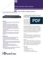 Mediant 1000 Hybrid E-SBC and Media Gateway Datasheet (1)