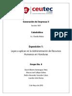 Grupo6 Expo1 Leyes Admon RH EnHonduras
