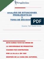 Análisis de Situaciones Problemáticas - Renglón Uno - 2011