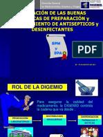 Bpa y Bpm Antisepticos y Desinfectantes
