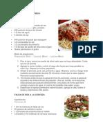 Recetas Carne de Res, Cerdo y Pollo