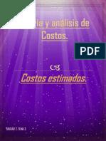 Costos Estimados - Teoria y Análisis de Costos