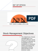 Stock Management Systems