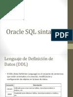 7 - SQL Sintaxis DDL