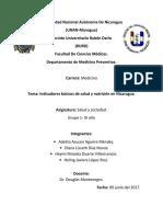 Indicadores Básicos de Salud y Nutrición en Nicaragua.