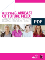 Keeping Abreast of Future Need - A Report Into the Growing Demand for Breast Care Nurses