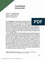 Results of Psychological Testing on Homosexual Populations (John C. Gonsiorek)