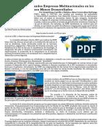 Efectos de Las Grandes Empresas Multinacionales en Los Países Menos Desarrollados