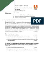 Uni QS 3 Question Paper