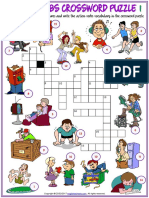 action verbs vocabulary esl crossword puzzle worksheets for kids.pdf
