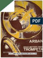 METODO ARBAN TROMPETA