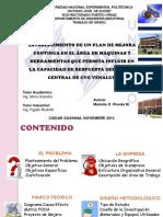 Establecimiento Plan Mejora Continua Area Maquinas y Herramientas Ppt