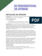Articulos de Opinion