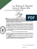 Ley de honorarios profesionales PROV DE BUENOS AIRES 2017