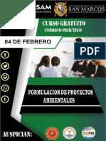 Brochure Formulacion de Proyectos Ambientales