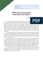 Declaración de Principios Sobre Ética Periodística