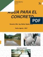 CLASE 02 - Agua Para El Concreto