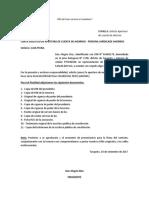 Carta Solicitud de Apertura de Cuenta Corriente