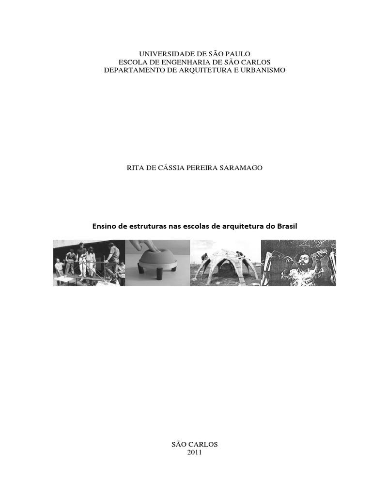 c58207bb7e3 Ensino de Estruturas Nas Escolas de Arquitetura Do Brasil