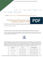 Formatos de Texto HTML_ Negrita, Cursiva, Tachado, Subrayado, Superíndice, Subíndice