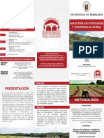 Maestria en Extension y Desarrollo Rural