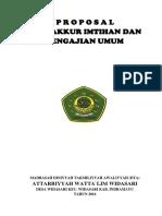 Contoh Proposal Tasyakkur Imtihan Dan Pengajian Umum, Haflah Akhirussanah
