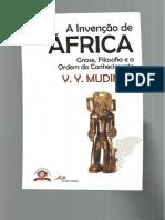 Mudimbe (2013), Questões de Método