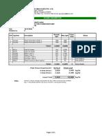 Utility List - Steam Consumption DF - Rev0
