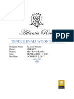 jacksons tender evaluation report