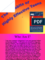 7 Habits of Highly Effective Teens Powerpoint Present
