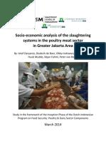 Analisa Sosio-Ekonomi Rumah Potong Ayam Di Jabodetabek 2015