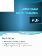 Abnormal Menstruation 1- Amen or Rhea & PCOS