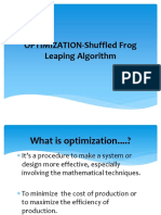 OPTIMIZATION-Shuffled Frog Leaping Algorithm