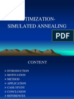 Optimization Simulated Annealing