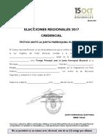 Cred Testigo Junta Parroquial 2017